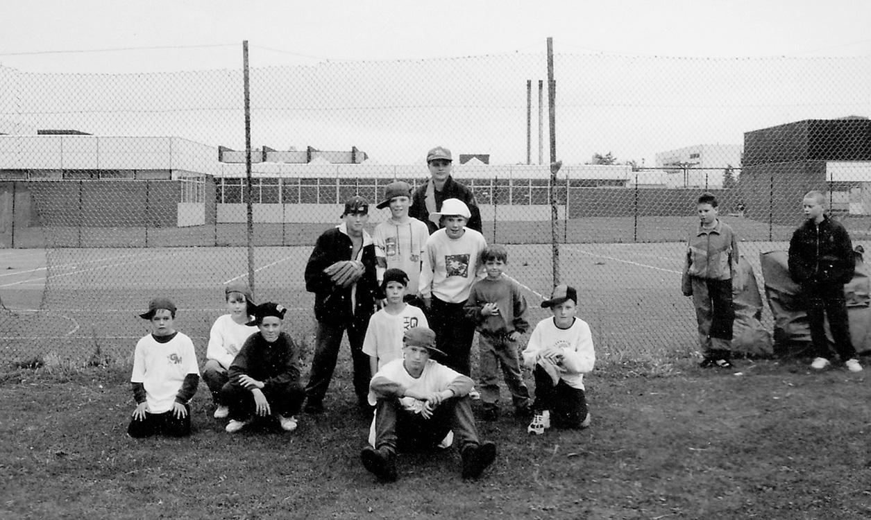 gary with junior baseball team