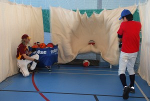 Guildford Mavericks basketball drill with baseball bats