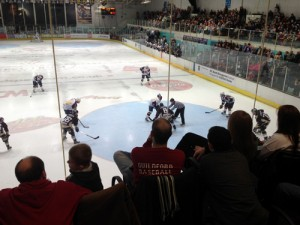 Guildford Mavericks watch Guildford Flames ice hockey