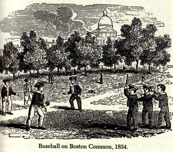 baseball in 1834