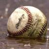 wet baseball